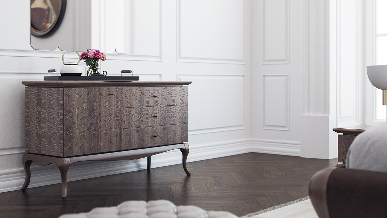Commode de chambre style royal