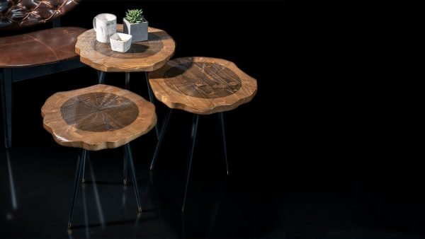 Holz set de 3 tables designs