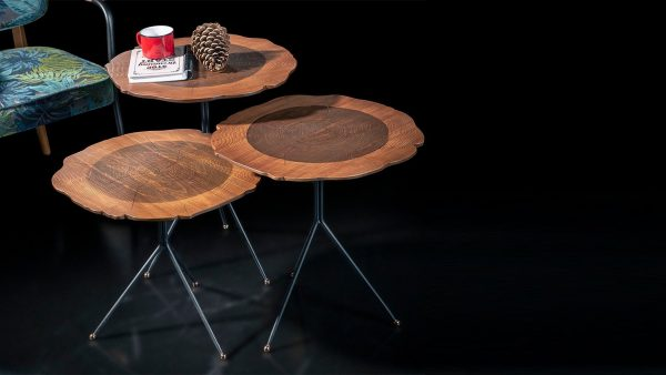 Wood set de 3 table design