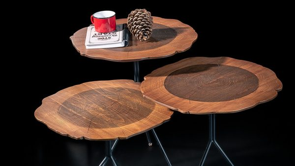 Wood set de 3 tables en bois de hêtre